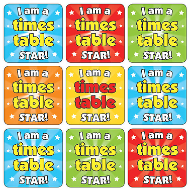 Times Tables Stickers 35 Stickers 20Mm Cb30 1 Large