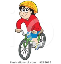 Royalty Free Cycling Clipart Illustration 213018
