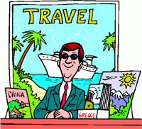 Travel -Agent -Cartoon
